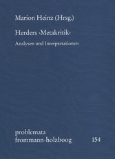 Herders 'Metakritik' - Analysen und Interpretationen